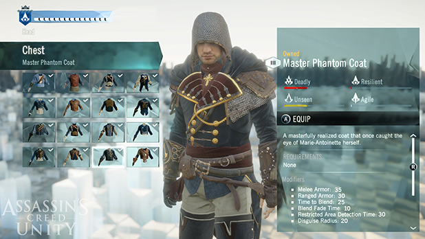 Ac unity customisation