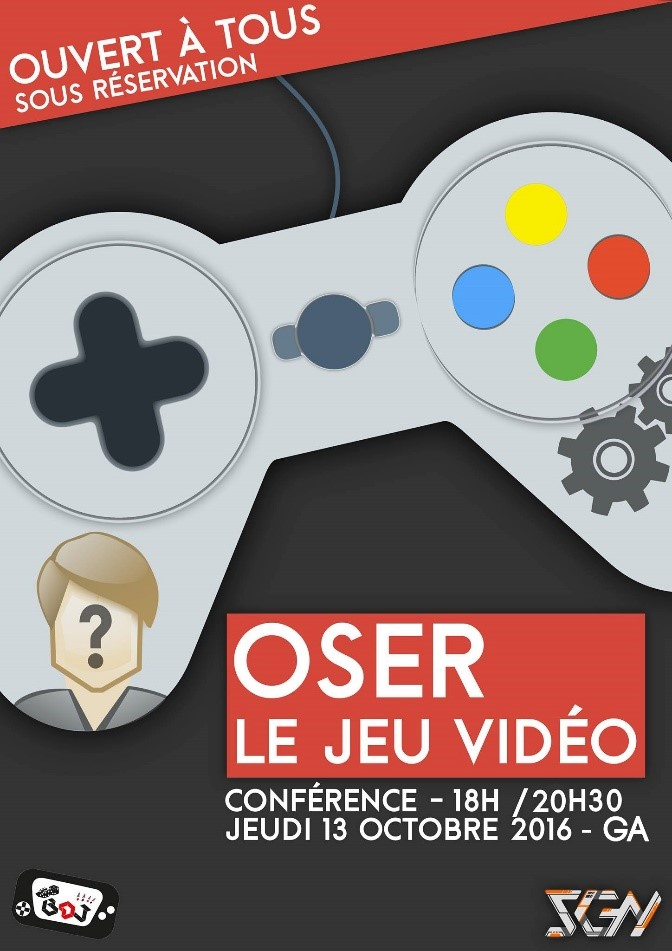 Affiche oser le jeu video